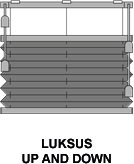 Luksus plissegardin - Up and Down - AO28
